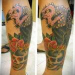 Пример рисунка татуировки птица Гриф 13.12.2020 №423 -tattoo vulture- tatufoto.com