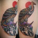 Пример рисунка татуировки птица Гриф 13.12.2020 №433 -tattoo vulture- tatufoto.com