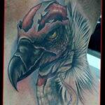 Пример рисунка татуировки птица Гриф 13.12.2020 №449 -tattoo vulture- tatufoto.com