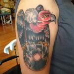 Пример рисунка татуировки птица Гриф 13.12.2020 №450 -tattoo vulture- tatufoto.com