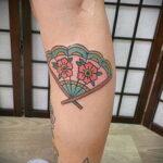 Пример рисунка татуировки с веером 13.12.2020 №095 -fan tattoo- tatufoto.com