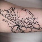 Пример рисунка татуировки с веером 13.12.2020 №118 -fan tattoo- tatufoto.com