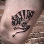 Пример рисунка татуировки с веером 13.12.2020 №122 -fan tattoo- tatufoto.com