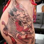 Пример рисунка татуировки с веером 13.12.2020 №125 -fan tattoo- tatufoto.com