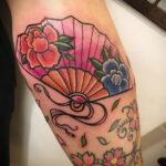 Пример рисунка татуировки с веером 13.12.2020 №132 -fan tattoo- tatufoto.com
