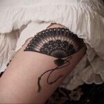 Пример рисунка татуировки с веером 13.12.2020 №133 -fan tattoo- tatufoto.com