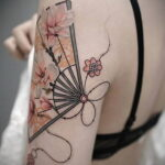 Пример рисунка татуировки с веером 13.12.2020 №145 -fan tattoo- tatufoto.com