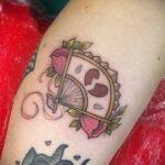 Пример рисунка татуировки с веером 13.12.2020 №149 -fan tattoo- tatufoto.com