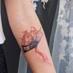 Пример рисунка татуировки с веером 13.12.2020 №152 -fan tattoo- tatufoto.com
