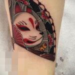 Пример рисунка татуировки с веером 13.12.2020 №154 -fan tattoo- tatufoto.com