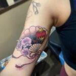Пример рисунка татуировки с веером 13.12.2020 №155 -fan tattoo- tatufoto.com