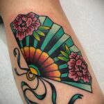 Пример рисунка татуировки с веером 13.12.2020 №159 -fan tattoo- tatufoto.com