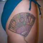 Пример рисунка татуировки с веером 13.12.2020 №163 -fan tattoo- tatufoto.com