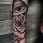 Тату роза на запястье пример 01.12.2020 №075 -rose tattoo on forearm- tatufoto.com