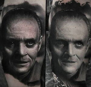 Ганнибал Лектер – фото тату 13.01.2021 №0001 -Hannibal Lecter Tattoo- tatufoto.com