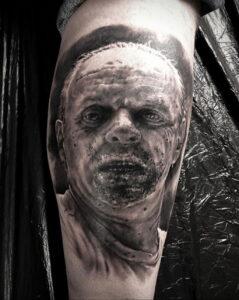 Ганнибал Лектер – фото тату 13.01.2021 №0002 -Hannibal Lecter Tattoo- tatufoto.com
