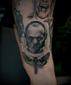 Ганнибал Лектер – фото тату 13.01.2021 №0004 -Hannibal Lecter Tattoo- tatufoto.com