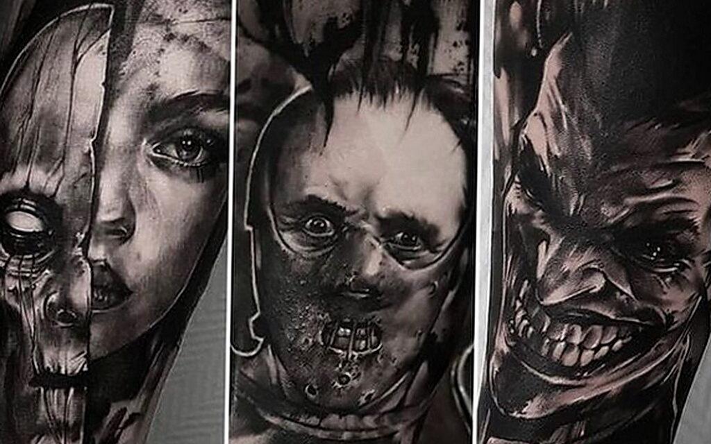 353 крутых и ужасающих татуировок с вымышленными убийцами
