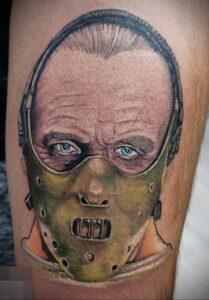 Ганнибал Лектер – фото тату 13.01.2021 №0007 -Hannibal Lecter Tattoo- tatufoto.com
