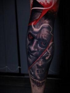Ганнибал Лектер – фото тату 13.01.2021 №0008 -Hannibal Lecter Tattoo- tatufoto.com