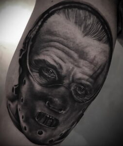 Ганнибал Лектер – фото тату 13.01.2021 №0009 -Hannibal Lecter Tattoo- tatufoto.com