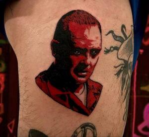 Ганнибал Лектер – фото тату 13.01.2021 №0010 -Hannibal Lecter Tattoo- tatufoto.com