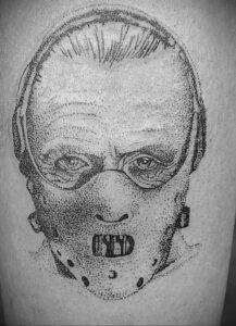 Ганнибал Лектер – фото тату 13.01.2021 №0012 -Hannibal Lecter Tattoo- tatufoto.com