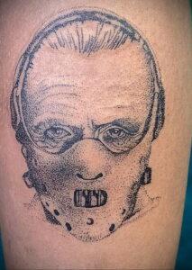 Ганнибал Лектер – фото тату 13.01.2021 №0013 -Hannibal Lecter Tattoo- tatufoto.com