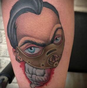 Ганнибал Лектер – фото тату 13.01.2021 №0015 -Hannibal Lecter Tattoo- tatufoto.com