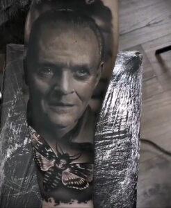 Ганнибал Лектер – фото тату 13.01.2021 №0016 -Hannibal Lecter Tattoo- tatufoto.com