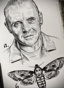 Ганнибал Лектер – фото тату 13.01.2021 №0018 -Hannibal Lecter Tattoo- tatufoto.com
