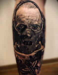 Ганнибал Лектер – фото тату 13.01.2021 №0021 -Hannibal Lecter Tattoo- tatufoto.com