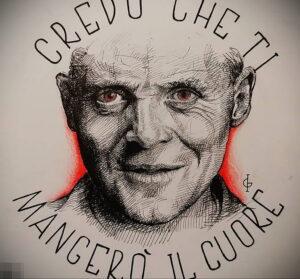 Ганнибал Лектер – фото тату 13.01.2021 №0022 -Hannibal Lecter Tattoo- tatufoto.com