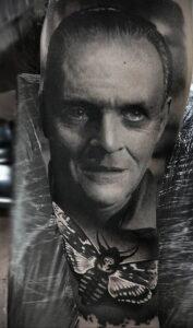 Ганнибал Лектер – фото тату 13.01.2021 №0023 -Hannibal Lecter Tattoo- tatufoto.com