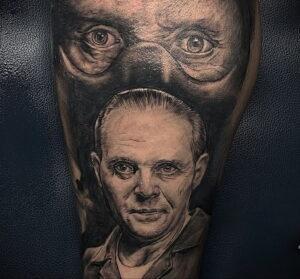 Ганнибал Лектер – фото тату 13.01.2021 №0024 -Hannibal Lecter Tattoo- tatufoto.com