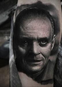 Ганнибал Лектер – фото тату 13.01.2021 №0028 -Hannibal Lecter Tattoo- tatufoto.com