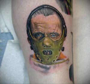 Ганнибал Лектер – фото тату 13.01.2021 №0029 -Hannibal Lecter Tattoo- tatufoto.com