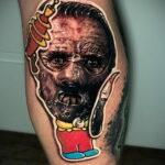 Ганнибал Лектер – фото тату 13.01.2021 №0030 -Hannibal Lecter Tattoo- tatufoto.com