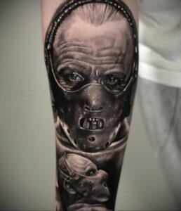 Ганнибал Лектер – фото тату 13.01.2021 №0031 -Hannibal Lecter Tattoo- tatufoto.com