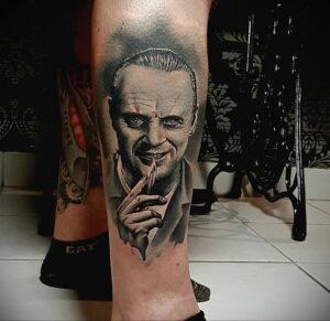 Ганнибал Лектер – фото тату 13.01.2021 №0033 -Hannibal Lecter Tattoo- tatufoto.com