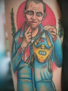 Ганнибал Лектер – фото тату 13.01.2021 №0035 -Hannibal Lecter Tattoo- tatufoto.com