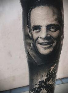 Ганнибал Лектер – фото тату 13.01.2021 №0036 -Hannibal Lecter Tattoo- tatufoto.com