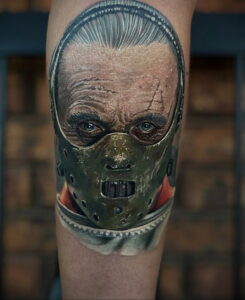 Ганнибал Лектер – фото тату 13.01.2021 №0039 -Hannibal Lecter Tattoo- tatufoto.com