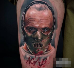 Ганнибал Лектер – фото тату 13.01.2021 №0045 -Hannibal Lecter Tattoo- tatufoto.com