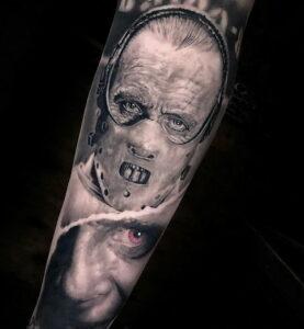 Ганнибал Лектер – фото тату 13.01.2021 №0046 -Hannibal Lecter Tattoo- tatufoto.com