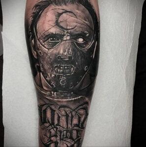 Ганнибал Лектер – фото тату 13.01.2021 №0048 -Hannibal Lecter Tattoo- tatufoto.com