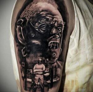 Ганнибал Лектер – фото тату 13.01.2021 №0049 -Hannibal Lecter Tattoo- tatufoto.com