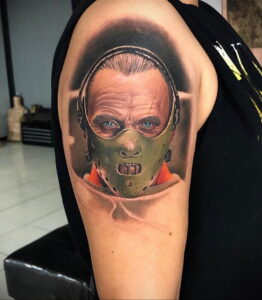 Ганнибал Лектер – фото тату 13.01.2021 №0051 -Hannibal Lecter Tattoo- tatufoto.com