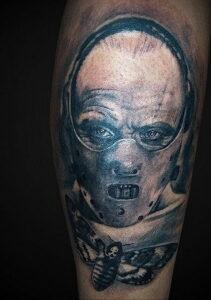 Ганнибал Лектер – фото тату 13.01.2021 №0052 -Hannibal Lecter Tattoo- tatufoto.com