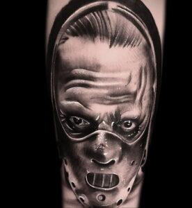 Ганнибал Лектер – фото тату 13.01.2021 №0053 -Hannibal Lecter Tattoo- tatufoto.com